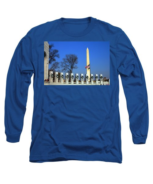 World War II Memorial And Washington Monument Long Sleeve T-Shirt