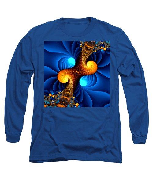 Long Sleeve T-Shirt featuring the digital art Wormhole by Svetlana Nikolova