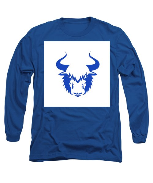 Yak Head Front Retro Long Sleeve T-Shirt