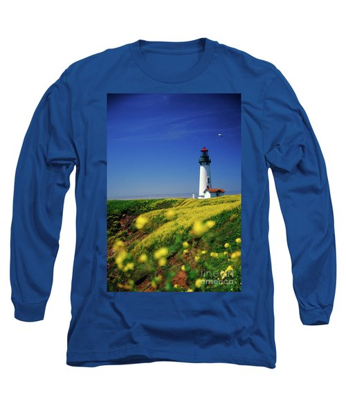Yaquina Head Lighthouse- V2 Long Sleeve T-Shirt
