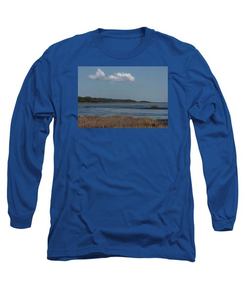 Yawkey Wildlife Reguge - View From The Causeway Long Sleeve T-Shirt by Suzanne Gaff