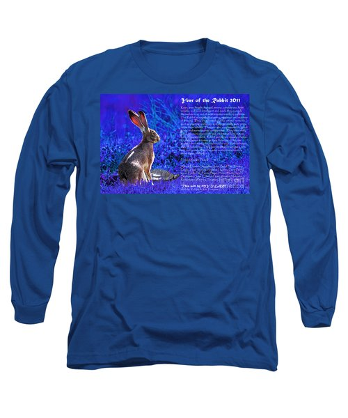 Year Of The Rabbit 2011 . Blue Long Sleeve T-Shirt