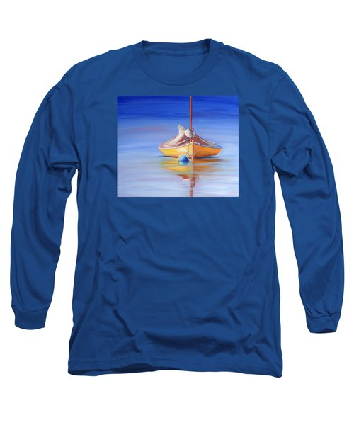 Yellow Hull Sailboat Iv Long Sleeve T-Shirt