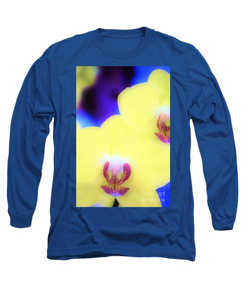 Yellow Orchid Long Sleeve T-Shirt