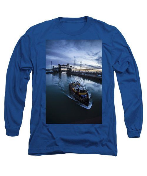 Yellow Tug Boat Approaching  Long Sleeve T-Shirt
