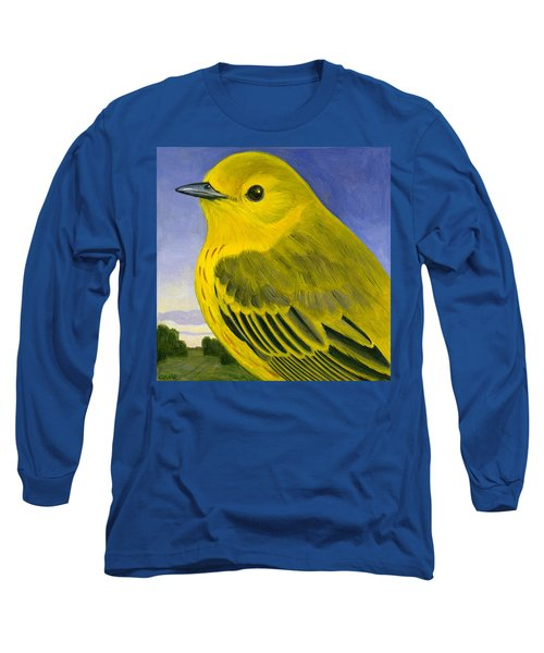 Yellow Warbler Long Sleeve T-Shirt by Francois Girard