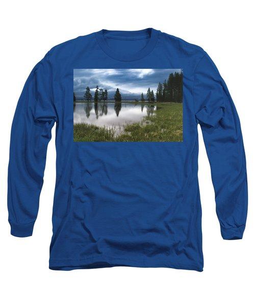 Yellowstone Lake Reflection Long Sleeve T-Shirt
