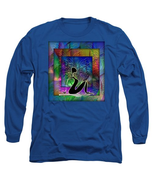 Yoga 6 Long Sleeve T-Shirt by Iris Gelbart