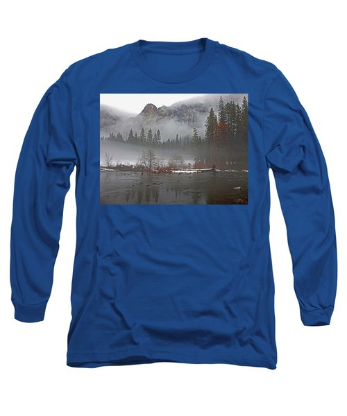 Long Sleeve T-Shirt featuring the photograph Yosemite Winter Beginnings by Walter Fahmy