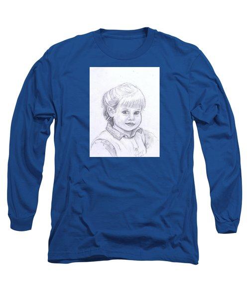 Young Girl Long Sleeve T-Shirt by Francine Heykoop