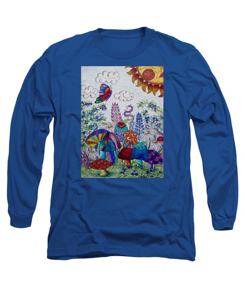 Zentangle Garden Long Sleeve T-Shirt