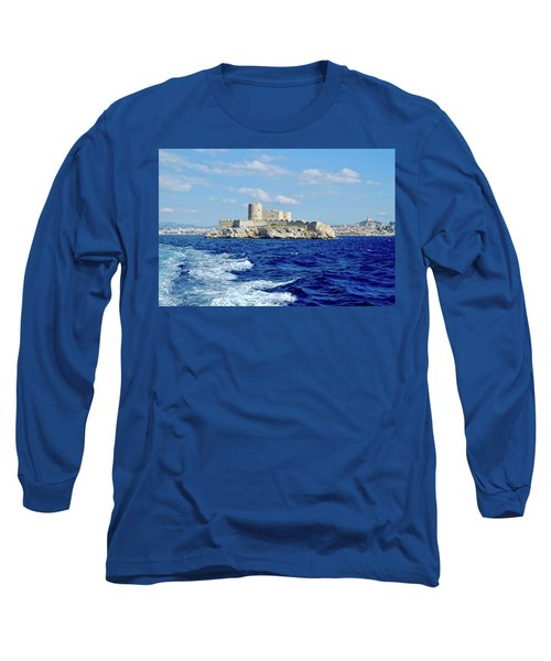 Long Sleeve T-Shirt featuring the photograph Chateau Of If Island by August Timmermans