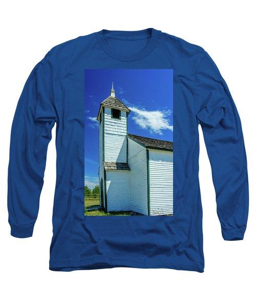 Historic Mcdougall Church, Morley, Alberta, Canada Long Sleeve T-Shirt