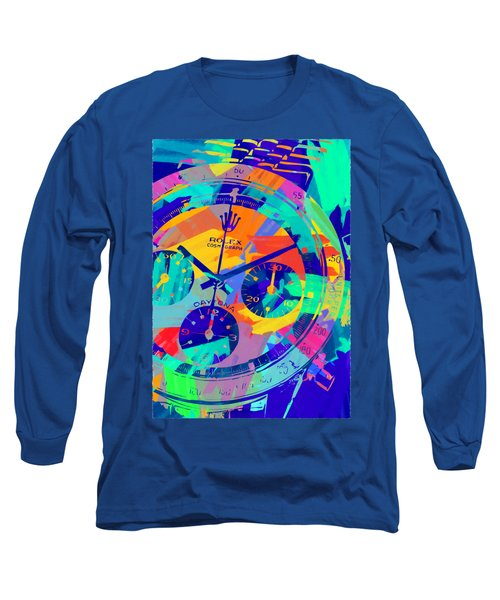 Abstract Rolex Digital Paint 1 Long Sleeve T-Shirt