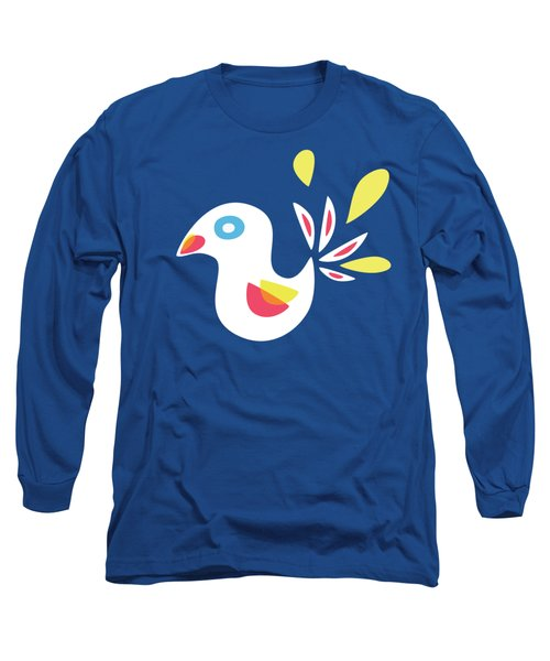 Abstract Bird In Spring Long Sleeve T-Shirt