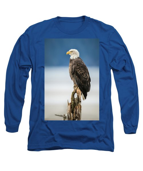 Bald Eagle On Snag Long Sleeve T-Shirt
