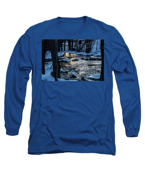 Big Hills Springs Under Snow And Ice, Big Hill Springs Provincia Long Sleeve T-Shirt