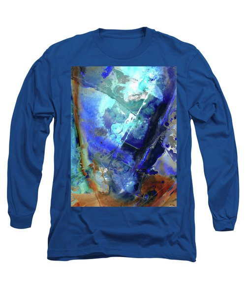 Blue Modern Abstract Art - After The Storm - Sharon Cummings Long Sleeve T-Shirt