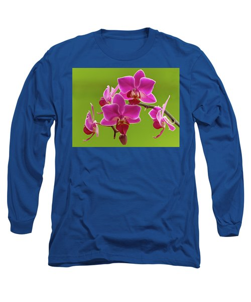 Brilliant Pink Orchid Long Sleeve T-Shirt