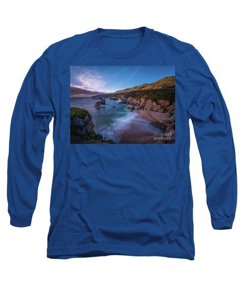 California Big Sur Evening Coastal Tranquility Long Sleeve T-Shirt