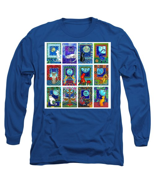 Cat Zodiac Paintings  Long Sleeve T-Shirt