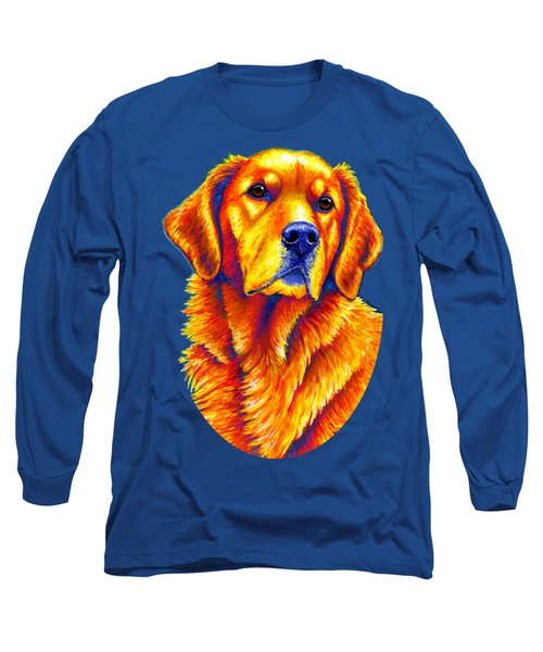 Colorful Golden Retriever Dog Long Sleeve T-Shirt