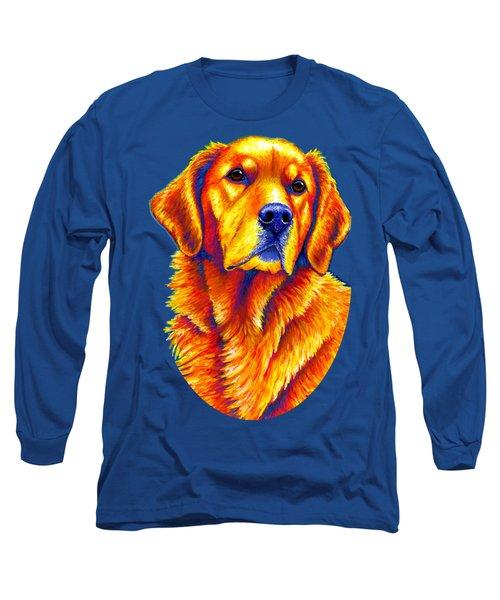 Colorful Golden Retriever Dog Long Sleeve T-Shirt