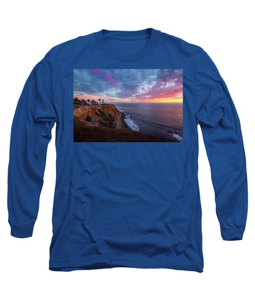 Colorful Sky After Sunset At Point Vicente Lighthouse Long Sleeve T-Shirt