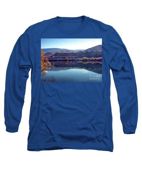 Long Sleeve T-Shirt featuring the photograph Train Reflection by Mae Wertz