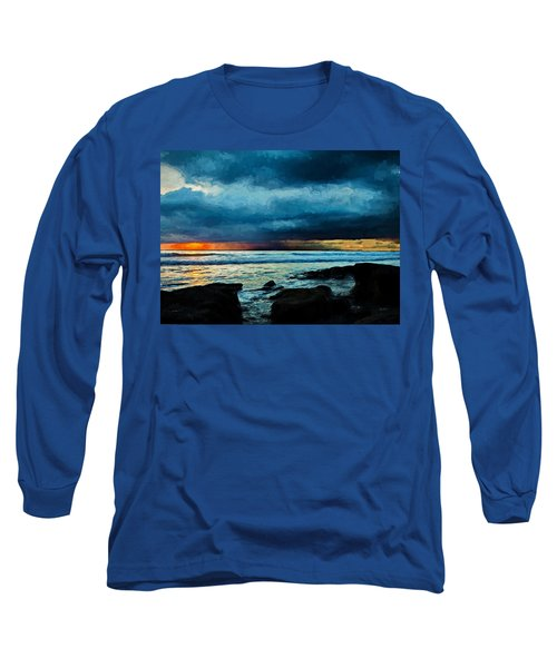 Distant Rain Clouds Long Sleeve T-Shirt
