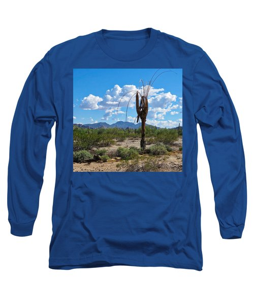 Dying Saguaro In The Desert Long Sleeve T-Shirt