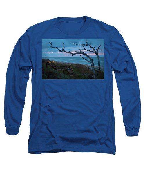 Emerald Isle Obx - Blue Hour - North Carolina Summer Beach Long Sleeve T-Shirt