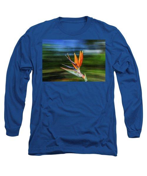Flying Bird Of Paradise Long Sleeve T-Shirt