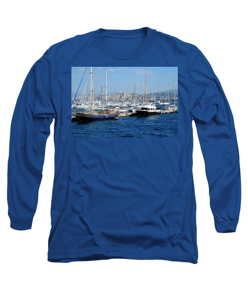 Long Sleeve T-Shirt featuring the photograph Frioul Marina by August Timmermans
