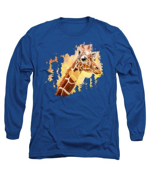 Nursery Wall Art,giraffe Print,giraffe Art,giraffe Animal Nursery Decor,nursery Wall Art, Long Sleeve T-Shirt