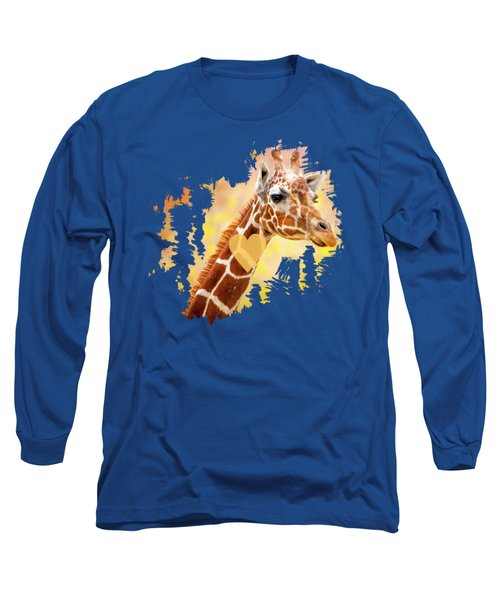 Giraffe, Animal Decor, Nursery Decor,  Long Sleeve T-Shirt