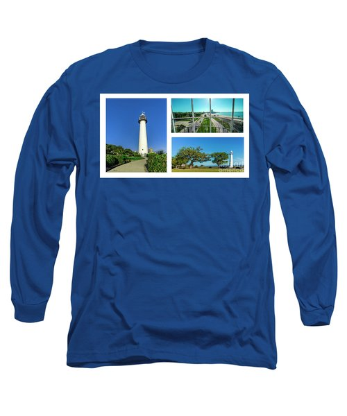 Grand Old Lighthouse Biloxi Ms Collage A1d Long Sleeve T-Shirt