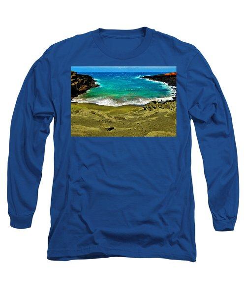 Green Sand Beach Long Sleeve T-Shirt