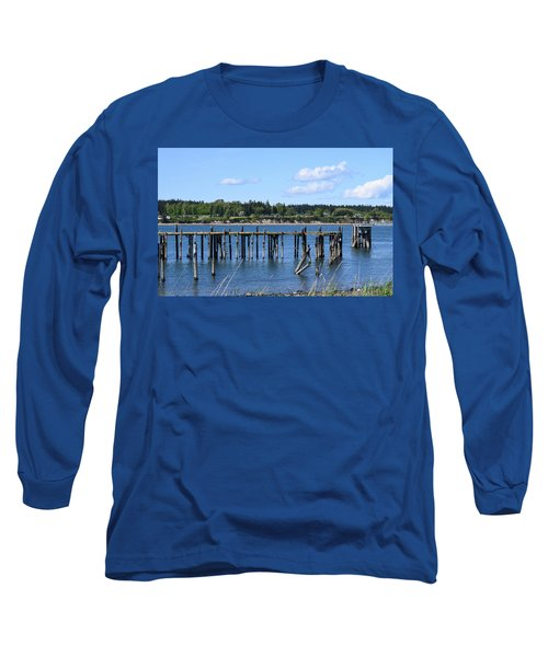Guemes Island And Old Pier Long Sleeve T-Shirt