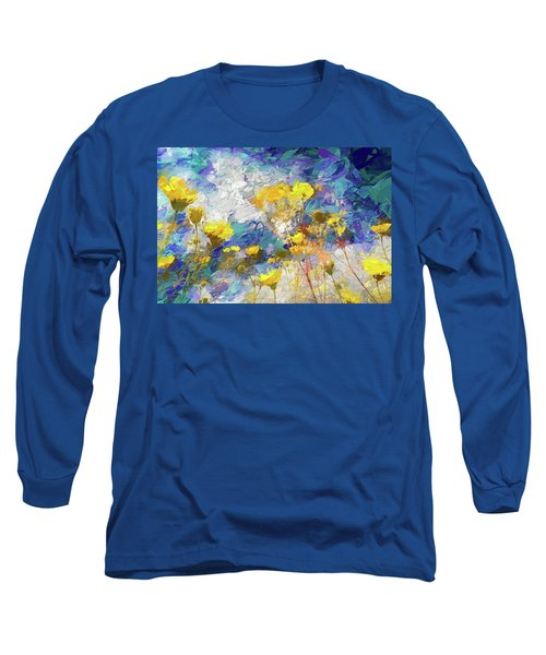 Impressions Of Desert Sunflowers Long Sleeve T-Shirt