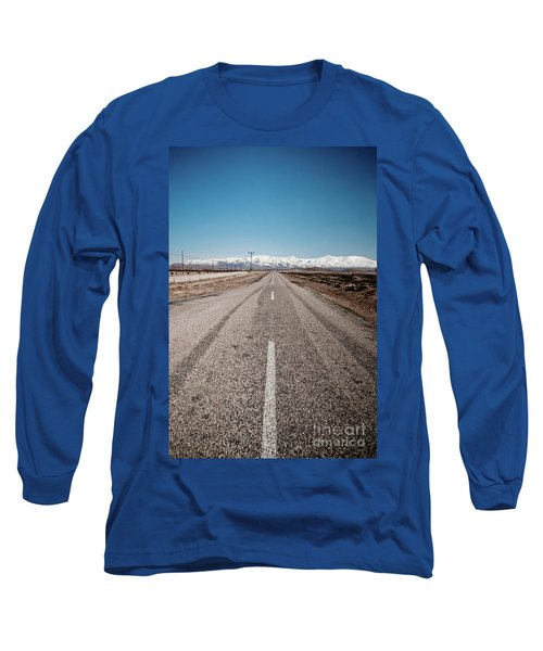 infinit road in Turkish landscapes Long Sleeve T-Shirt