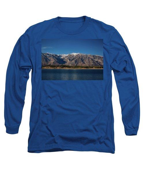Jackson Lake Wyoming Long Sleeve T-Shirt
