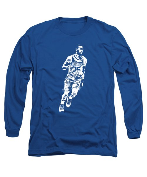 Kemba Walker Charlotte Hornets T Shirt Apparel Pixel Art 1 Long Sleeve T-Shirt