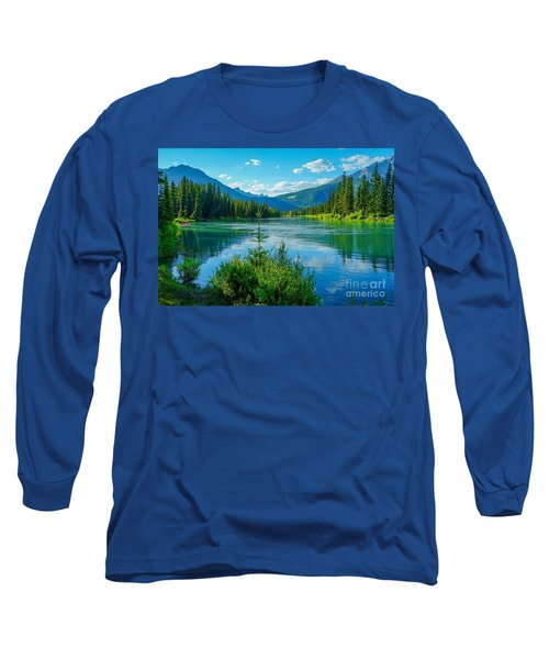 Lake At Banff Indian Trading Post Long Sleeve T-Shirt