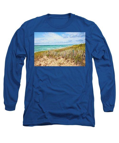 Lake Michigan Beachcombing Long Sleeve T-Shirt