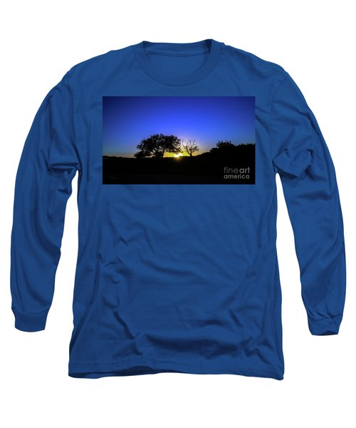 Last Light Texas Hill Country Paradise Canyon Sunset 8053a1 Long Sleeve T-Shirt