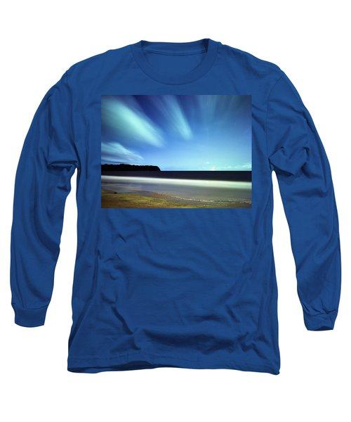Linear Clouds Over Mayaro Long Sleeve T-Shirt
