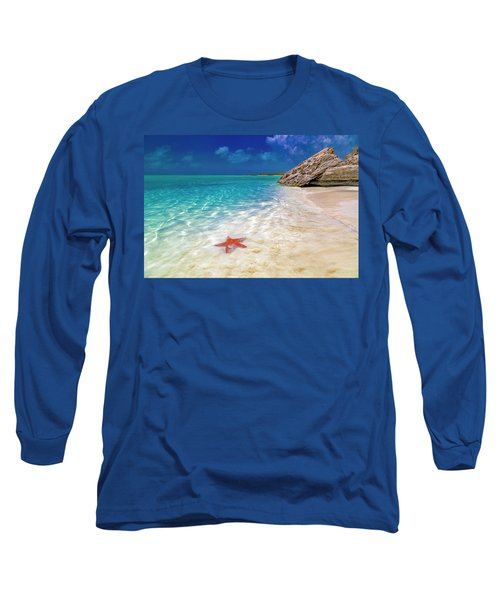 Middle Caicos Tranquility Awaits Long Sleeve T-Shirt