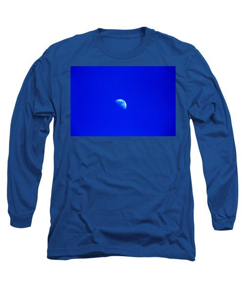 Moon In A Daytime Sky Long Sleeve T-Shirt
