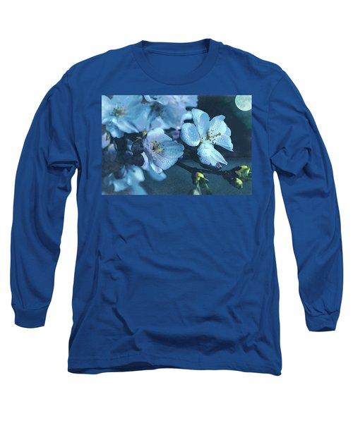 Moonlit Night In The Blooming Garden Long Sleeve T-Shirt